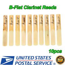 NEW 10pcs Plastic B-Flat 2.5 Clarinet Reeds Repair Parts Reed Accessory US