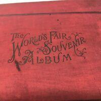 Chicago World's Fair Souvenir Album 1894 1st ed. HC Book COLUMBIAN EXPOSITION