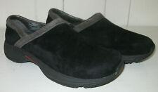 MERRELL Women's Encore Adams Black Suede Leather Slip On Clog Shoe Sz 6.5