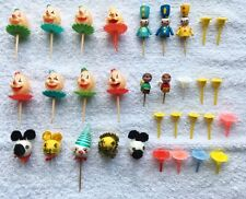 Vintage Clowns, Animals & Other Various Cake Toppers Lot!