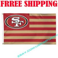 Deluxe San Francisco 49ers USA Stars Stripes Flag Banner 3x5ft NFL 2019 Fan Gift