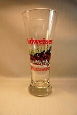 """VINTAGE CHRISTMAS 1989 BUDWEISER CLYDESDALE GLASS-Flared-Heavy Base-7 1/4"""""""