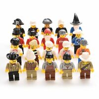 Assorted Minifigures x 20 Town City People *All Different* Block Mini Figures