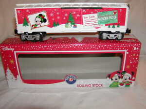 Lionel 1928670 Disney Mickey's Christmas Wish List Box Car O 027 New 2019 MIB