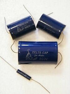 New Old Stock Delta cap audio capacitors