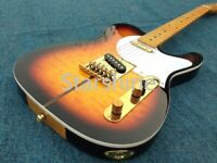 Top TL Electric Guitar Gold Hardware Set In Joint AAA Grade Quilted Maple Top