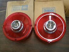 NOS 1965 Ford Galaxie Custom 500 Tail Light Lenses w/ Backup Lights Lamps