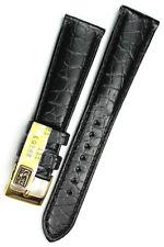 19mm /16mm echt ALLIGATOR BAND GERMANY GRAF Louisiana Krokoband feine Maserung