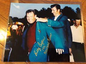 RARE BILLY CASPER PGA LEGEND Signed Autograph 8x10 PHOTO 1970 Masters Champ