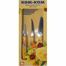 Asian Thai Fruit Carving Knife Set Cutco Vegetable Kom Kom Knives Shapener Shun