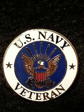 Us Navy Veteran Hat / Lapel Pin 1 inch