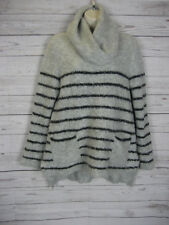White Stuff Grey Women's Sweater Swing Jumper Wool Alpaca Mix UK 12 / EUR 40