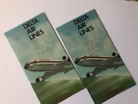 Vintage 1976 Delta Airlines System Route Map Air Lines