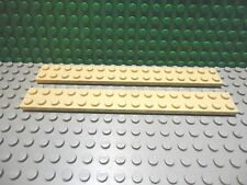 Lego 2 Tan 2x16 base plate NEW