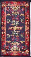 """19th C/20th C Hooked Baskets & Birds Folk Art Rug 48"""" X 27""""  4 Feet"""
