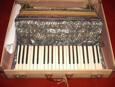 Vintage Hohner Verdi III Piano Accordion in Pearl Grey/Blue With Selmer Case