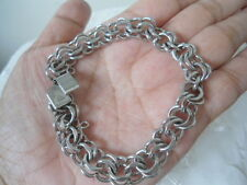 Vintage Sterling Silver JACOBY BENDER 10.0mm Cable Chain 22g BRACELET Collection