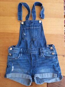 & Denim dungaree shorts size 8-9 years