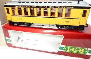 LGB G Scale # 3082 Denver & Rio Grande Western Passenger Car w box/ sleeve nice!