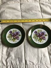 2 Weatherby Royal Falcon Collector Plates Pansies