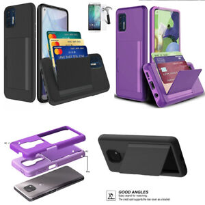 "Phone Case For Straight talk Moto G Stylus (6.8"") Shock Absorbing Card Holder"