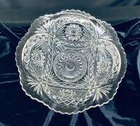 Vintage Imperial Glass Crystal Large Fruit Bowl
