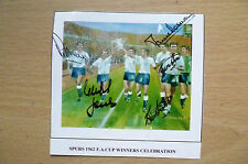 Photograph- SPURS 1962 FA CUP WINNERS CELEBRATION Hand Signed (apx. 9x8.5cm)