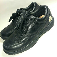 NEW Dr Comfort ROBERT Mens Comfort Shoes Black Leather Walking Lace Up Oxford 8W