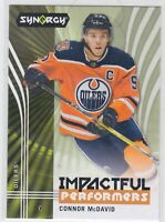 19/20 SYNERG...CONNOR McDAVID...IMPACTFUL PERFORMERS...CARD # IP-3...OILERS