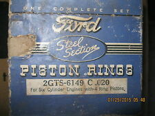 Piston Rings 1932 1933 1934 1935 1936 Ford 6 Cylinder Flathead engine .020