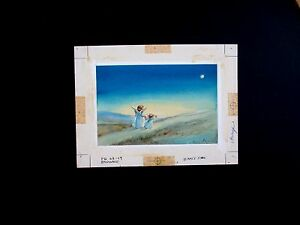 Original Hand Signed Water Color Painting for Xmas Card Art by Erica Von Kager