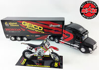 Kevin Windham Geico GIFT SET Honda CRF450 Motocross Bike 1:12 / 1:32 Race Truck