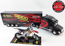 Kevin Windham Geico GIFT SET Honda CRF450 Motocross Bike 1:12 / 1:32 Race Truck