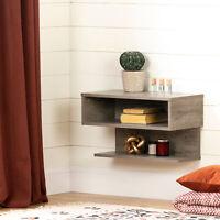 Floating Nightstand Shelf Bed Side Table Display Storage Rustic Weathered Oak