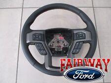 15 thru 20 F-150 OEM Ford Black w/ Tan Stitching Sync Cruise Steering Wheel -NEW