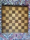 Antique Vintage 15  Wooden Inlay Game board Chess Checker Patina Nice Display