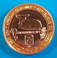 Tchad 4500 Francs CFA 2005 Sheep UNC 3 Africa Bi-metallic Chad unusual coinage