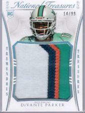 2015 National Treasures DeVante Parker Rookie Jumbo 4 Color Jersey /99 Dolphins