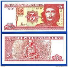 Che Guevara - 3 pesos -  UNC Currency Note