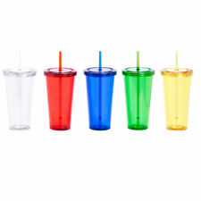 More details for 20 x tumbler cups with lid & straw, blanks for vinyl labels, bulk wholesale lot