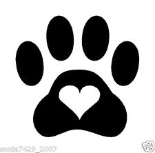 "2x Cat Dog Animal Paw Paws Print Heart Vinyl Car Decal Decals Sticker Window 4"""