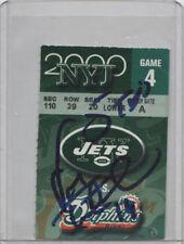 Vinny Testaverde NY Jets SIGNED 1of1 Ticket Stub 5 TD Inscription 10/23/00 COA!