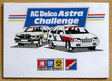 AC Delco Vauxhall GM Astra Challenge Rally Race Retro Motorsport Sticker / Decal