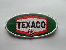 MOTORSPORTS RACING TYRE SEW ON / IRON ON PATCH:- TEXACO FUELS (a) GREEN OVAL