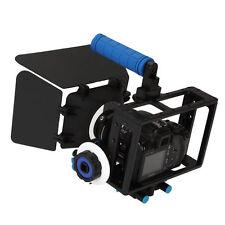 Cámara réflex digital Jaula Rig + Manija Superior + Follow Focus + Matte Box Para Canon 550d 500d Nikon