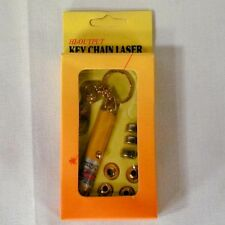 NEW LASER POINTER 5 TIP novelties lazer key chain toy NOVELTY red light lasers
