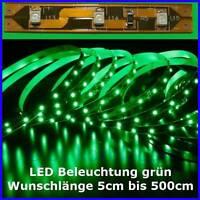 S335 LED Beleuchtung nach Maß von 5cm bis 500cm GRÜN SMD LEDs Modellbeleuchtung