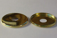 "LOT OF 2 BRASS PLATED 2"" CHECK RINGS 1/8IP LAMP PART NEW 54753J"