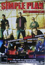 "SIMPLE PLAN ""MTV HARDROCK LIVE"" THAILAND PROMO POSTER-Group Shot & Concert Shots"
