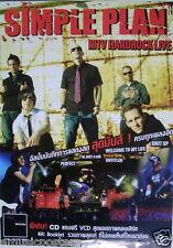 "SIMPLE PLAN ""MTV HARDROCK LIVE"" THAILAND PROMO POSTER-Group Shot & Concert Shots"
